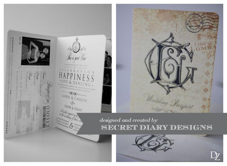 #weddinginvitations #Passportweddinginvitations  www.secretdiary.co.za