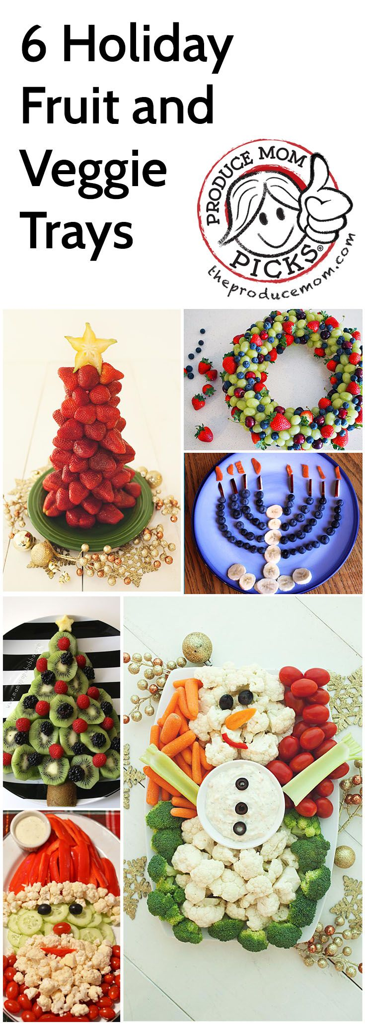 6 Holiday Fruit and Veggie Trays from The Produce Mom