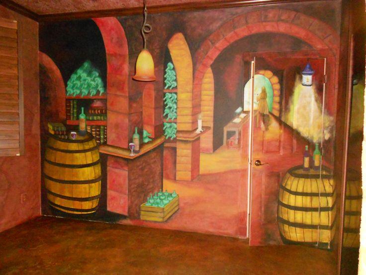 Trompe Loeil para Cava o Sala de vinos