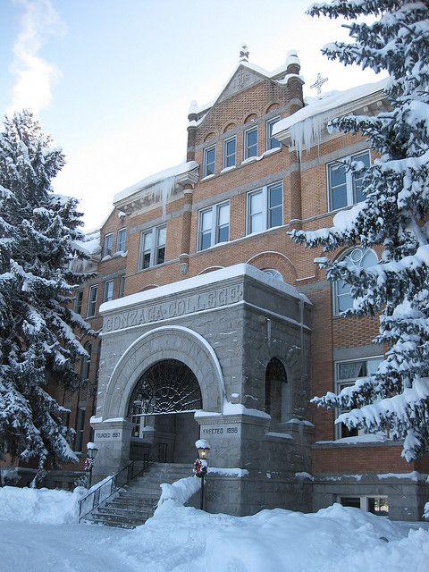 Gonzaga University in winter, Spokane WA