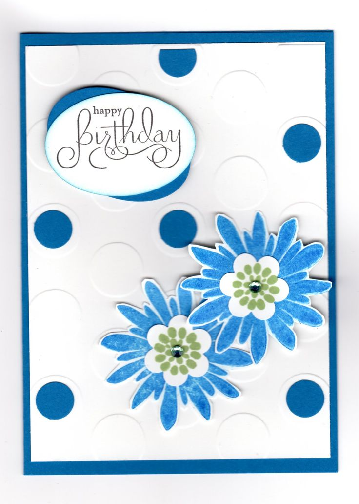 Handmade card - stamps by Stampin' Up. Embossed and small circle dies added.