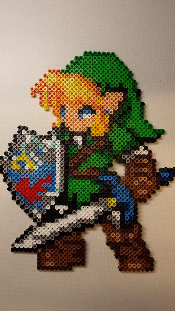 Link - LoZ - Perler beads by Kisaoda on deviantART