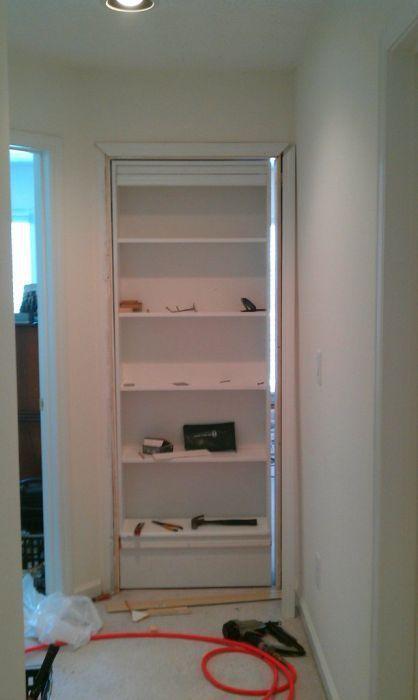 DIY Hidden Bookshelf Door11 DIY Hidden Bookshelf Door