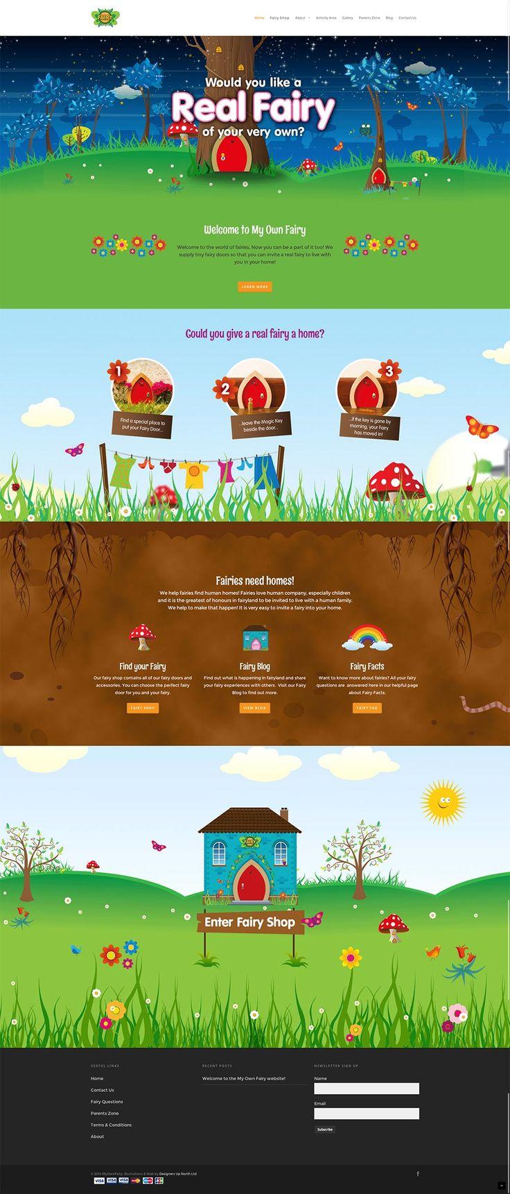 Unique Web Design, Real Fairy #WebDesign #Design (http://www.pinterest.com/aldenchong/)