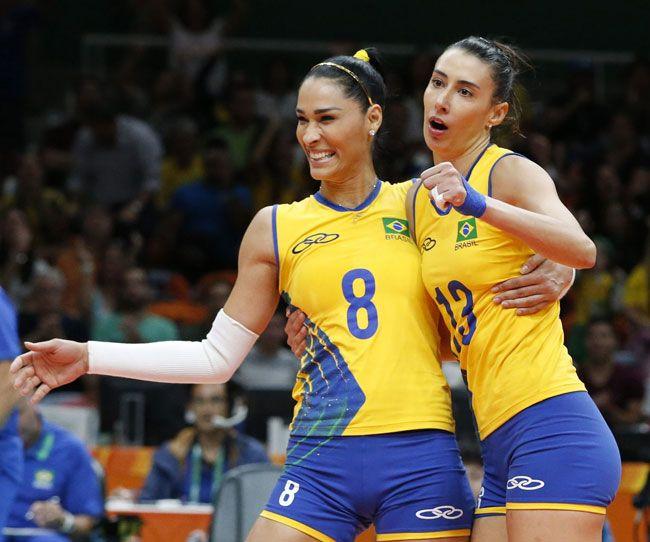 ジャケリネ・カルバリョ(左)とシェイラ・カストロ(いずれもブラジル)。写真はリオデジャネイロ五輪で