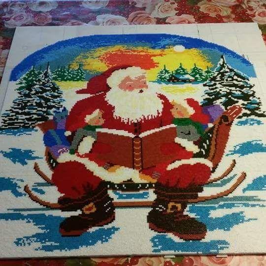 Santa - Christmas hama mini beads by hansenmus