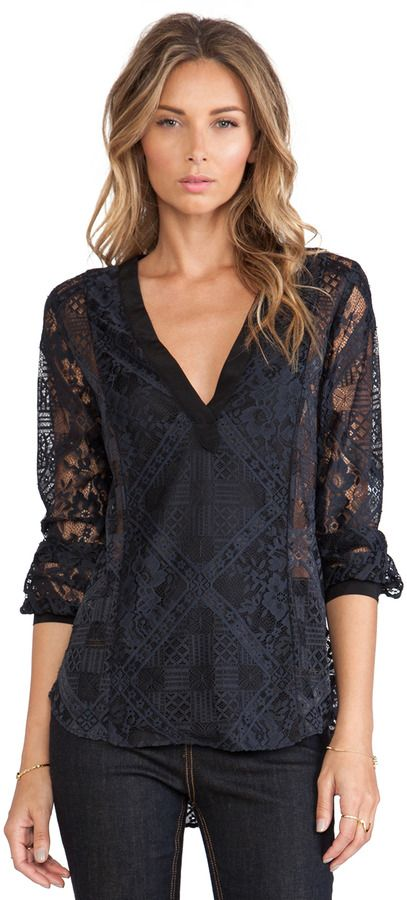 Twelfth Street By Cynthia Vincent V Neck Blouse