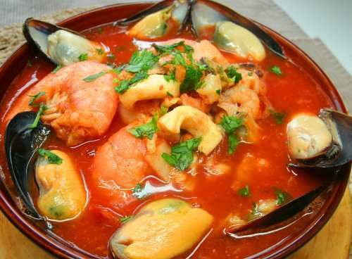 ... style mango coconut soup with mango relish seafood soup amalfi style