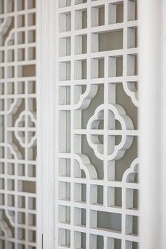 fretwork panels with Asian pattern