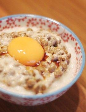 しあわせ~♪ふわふわ納豆卵かけごはん