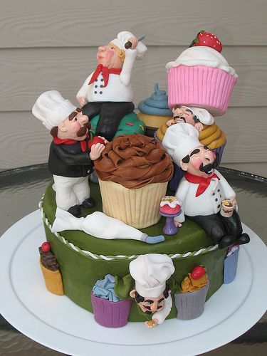 This is an interesting cake. http://cakesandcupcakesmumbai.com/2013/01/23/chef-themed-cakes-and-cupcakes/#