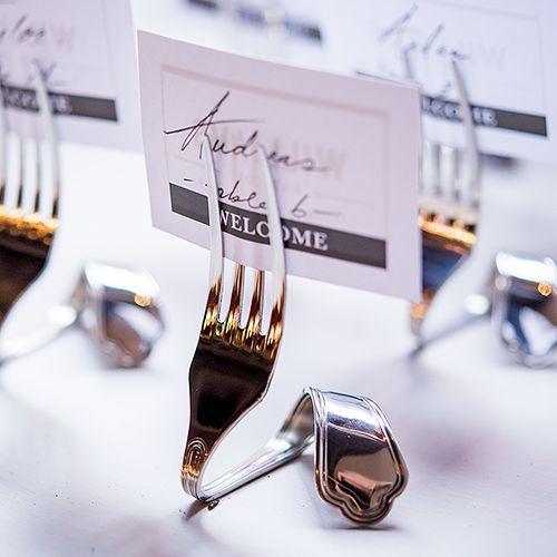 Twisted Fork Vintage Inspired Table Number Holders - Confetti.co.uk
