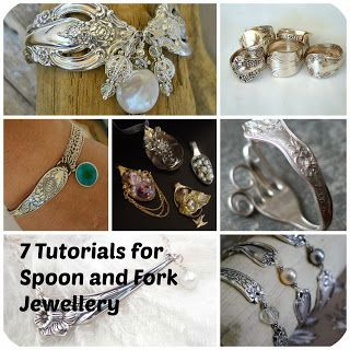 7 Tutorials for Sterling Silver Spoon and Fork Jewellery. Rings, bracelets and pendants.