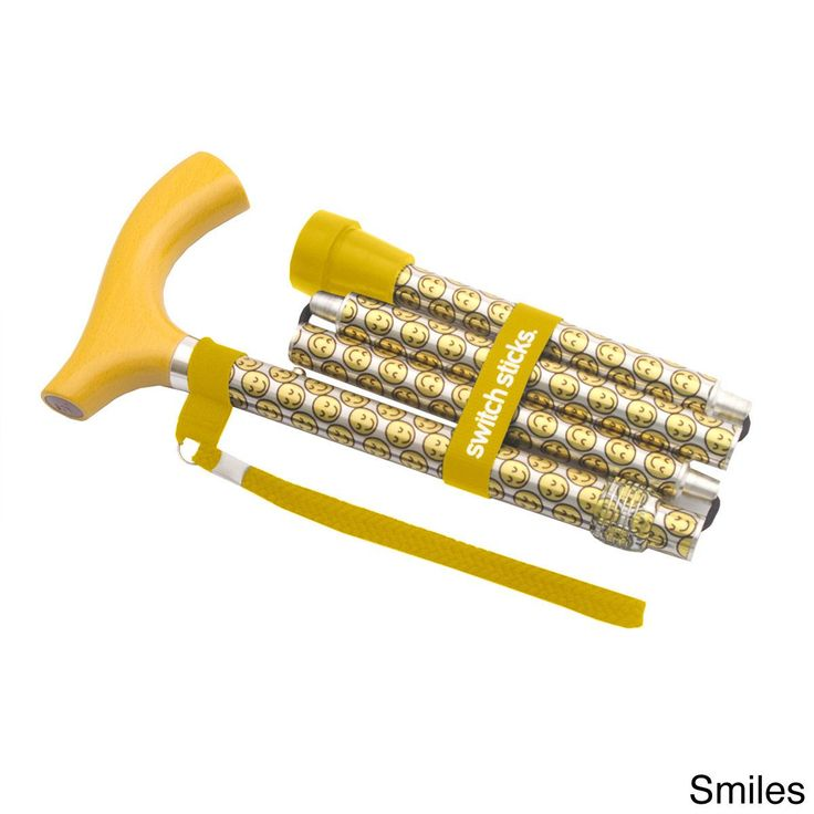 Switch Sticks Folding Walking Stick (Smiles, 502-2000-5114), Blue waterfall