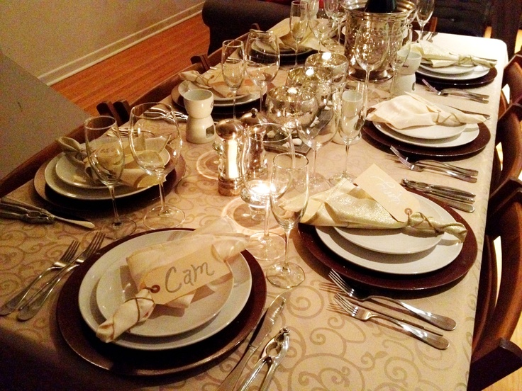 New years table setting 2013 | My Happyland | Pinterest