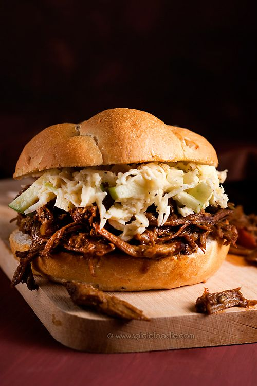 Habanero, Rum and Molasses Pulled Pork Sandwiches