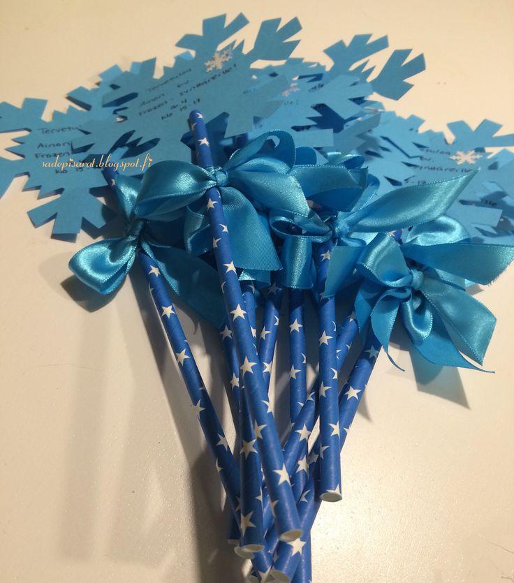 Frozen- synttäreiden kutsukortit. Birthday invitations for Frozen party