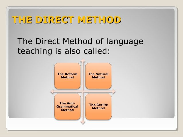 essay on direct teaching method 322 direct method – central characteristics 33 audio-lingualism (al)  in the  following essay mainly teaching methods will be described beginning with the.