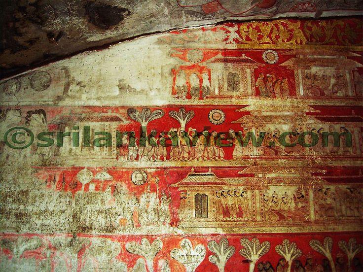 Paintings of Maha Silava Jataka at Degaldoruwa Cave Temple