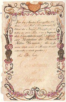 Juramento da Imperatriz Maria Leopoldina de Áustria à Constituição do Brasil, 1824 – Wikipédia, a enciclopédia livre