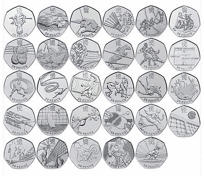 Selection of #collectable fifty pence #coins #(50p) rare olympic and commemorativ, View more on the LINK: http://www.zeppy.io/product/gb/2/112127048704/
