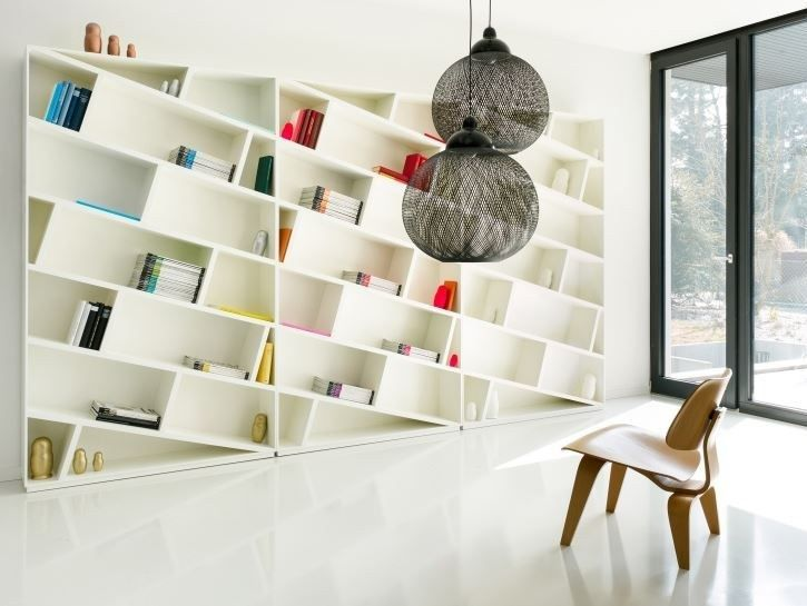 Open sectional lacquered bookcase ONLY BOOKS by Schönbuch