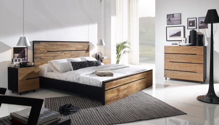 Dormitorio modelo avana compuesta por teca reciclada.