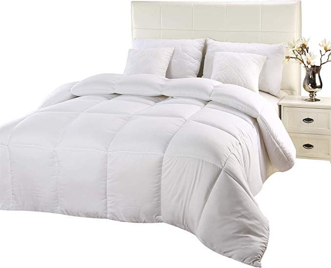 Utopia Bedding Comforter Duvet Insert Quilted Comforter With Corner Tabs Hypoallergenic Box Stitched Down Bed Comforters Duvet Comforters Cool Comforters