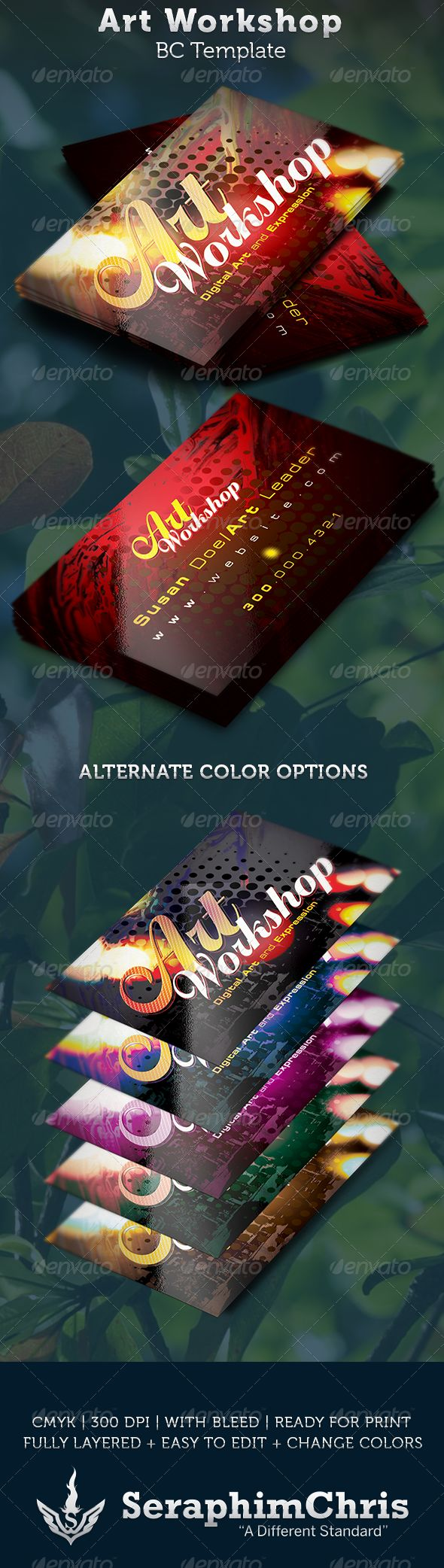 220 best business cards templates images on pinterest corporate art workshop business card template magicingreecefo Image collections