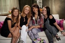 Teen Mom cast......left to right:    psychotic abuser.....slut homewrecker....anytime anyplace anywhere  farrah.......sort of cute-sort of nuts......