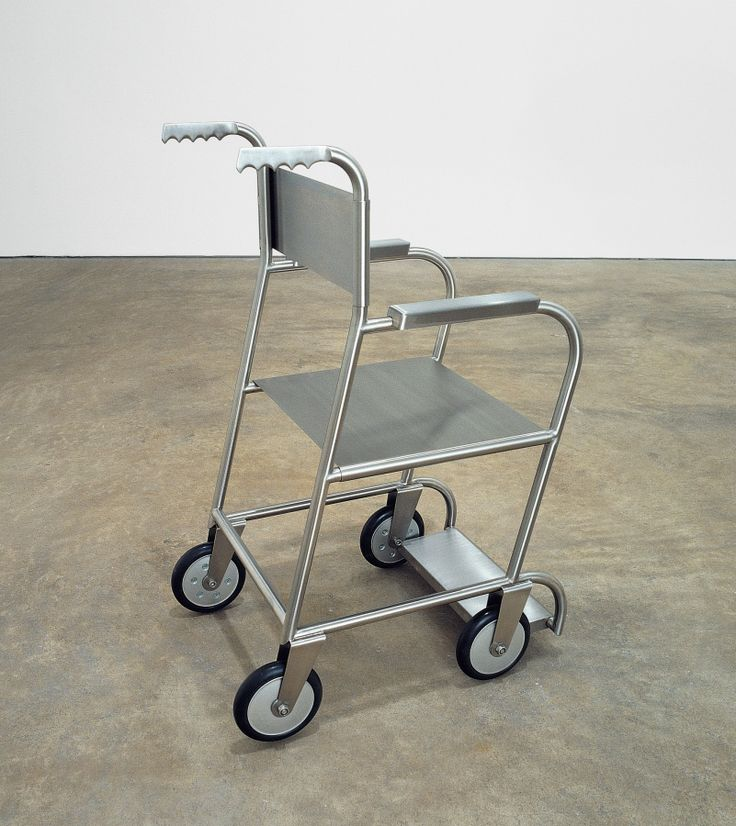 Mona Hatoum Untitled (wheelchair II) 1999 stainless steel, rubber 37 1/4 x 19 x 25 in/94.5 x 48.5 x 63.5 cm