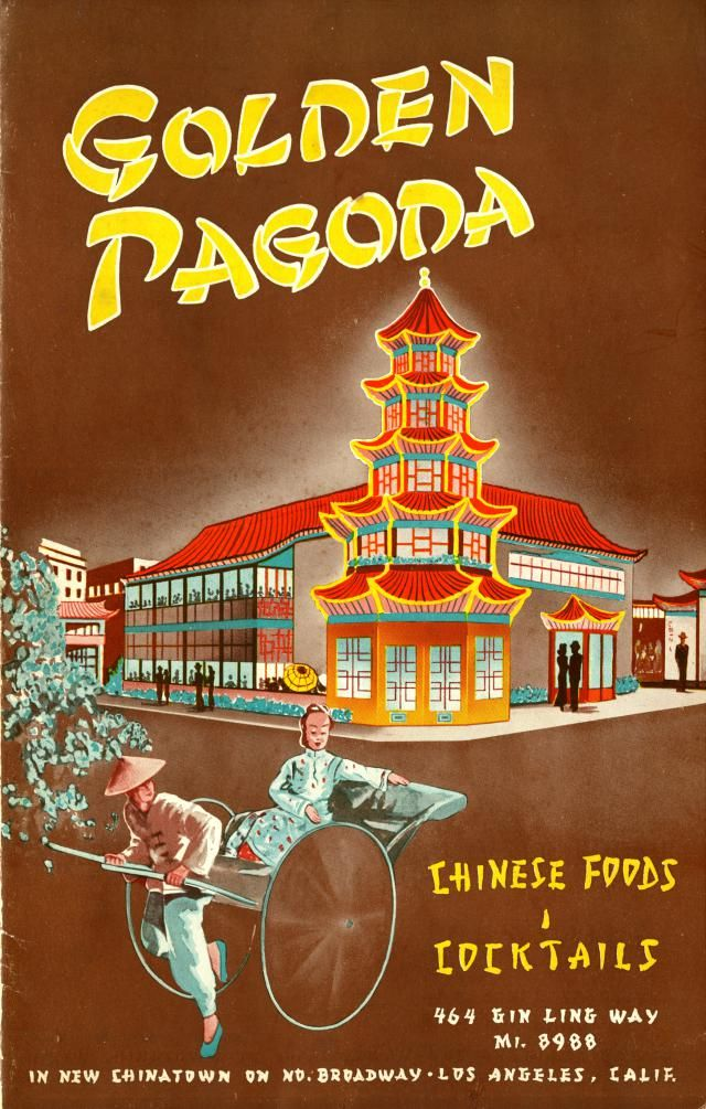 Insane Collection of Vintage LA Menus. You've got to see these 15 Gems.: Old Los Angeles Chinese Restaurant Menu