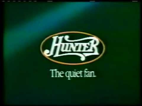 Vintage Hunter Ceiling Fan commercial: Hunter ceiling fans are not only elegantly styled but they can save you up to 40% on air conditioning bills. They are also exceptionally quiet. In fact, Hunter ceiling fans are so quiet...the only sound you'll hear is the electric bill dropping...Hunter, the quiet fan.