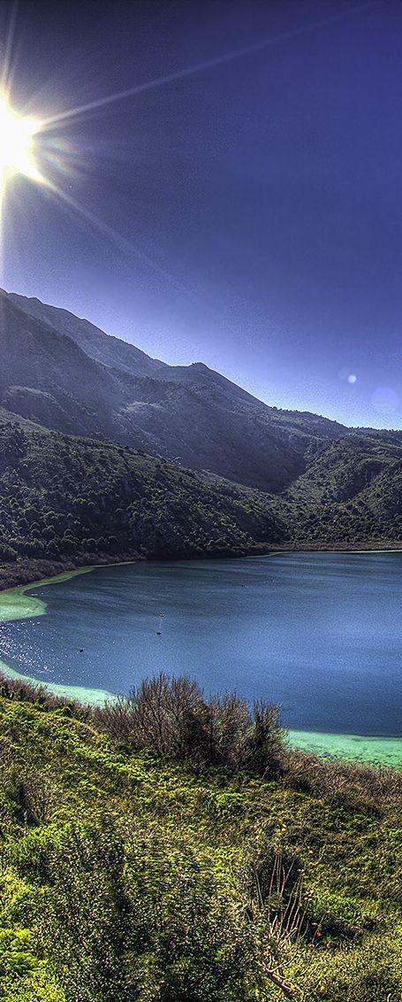 Kournas lake in Chania, Crete