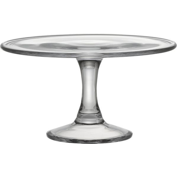 Every home needs a good cake stand...this clear one is so universal it will go with anything!  Charlotte Cake Stand | Crate and Barrel #bridalregistry