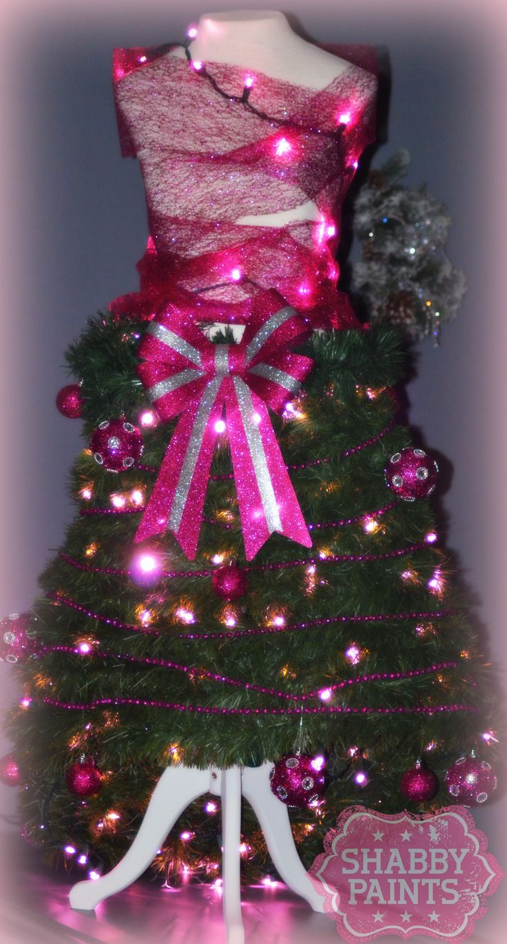 Bling Dress Form Christmas Tree Make Your Own Stand Add