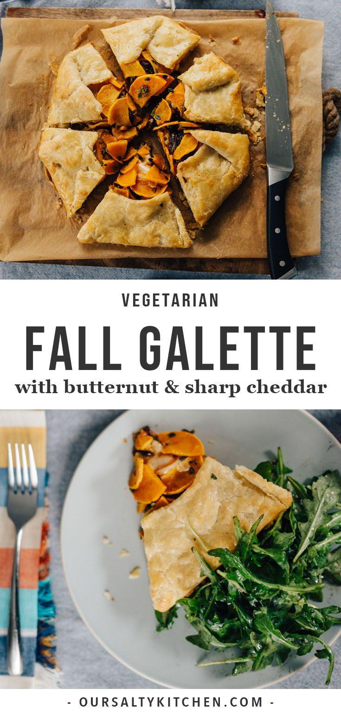 Butternut Squash Galette With Caramelized Onions Recipe Autumn Recipes Vegetarian Vegetarian Recipes Dinner Vegetarian Dinner Party