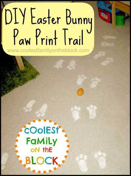 diy Easter bunny paw print trail tradition | art | Pinterest ...