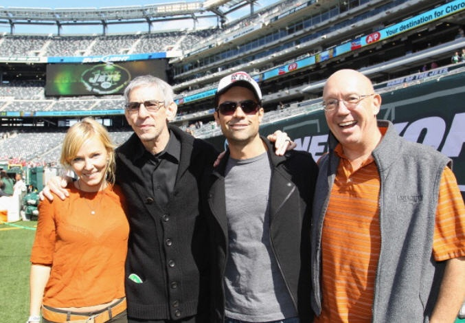 Some of the SVU cast attended a Jets game, September 2012: Kelli Giddish, Richard Belzer, Danny Pino, Dann Florek! Awesome group!!!