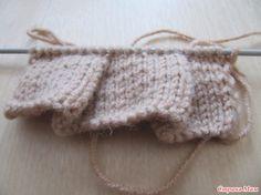 МК вязания складок спицами. - Страна Мам