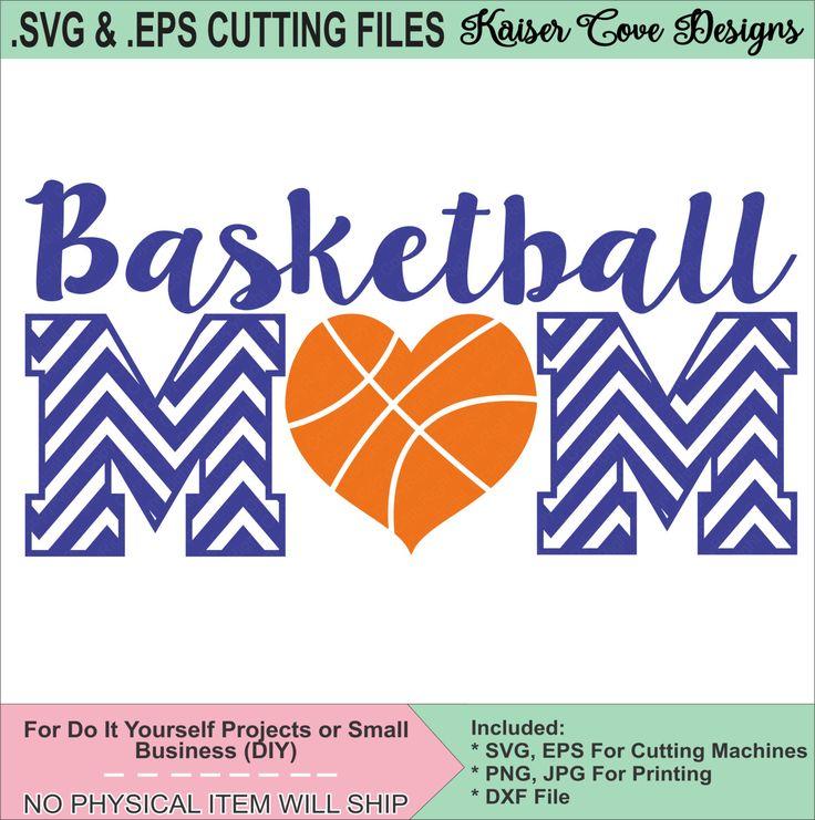 SVG,EPS Cutting File, Basketball Mom Cut File,Silhouette Cameo File,Cameo SVG,Basketball svg,basketball eps,cameo design file, mom svg by KaiserCoveDesigns on Etsy