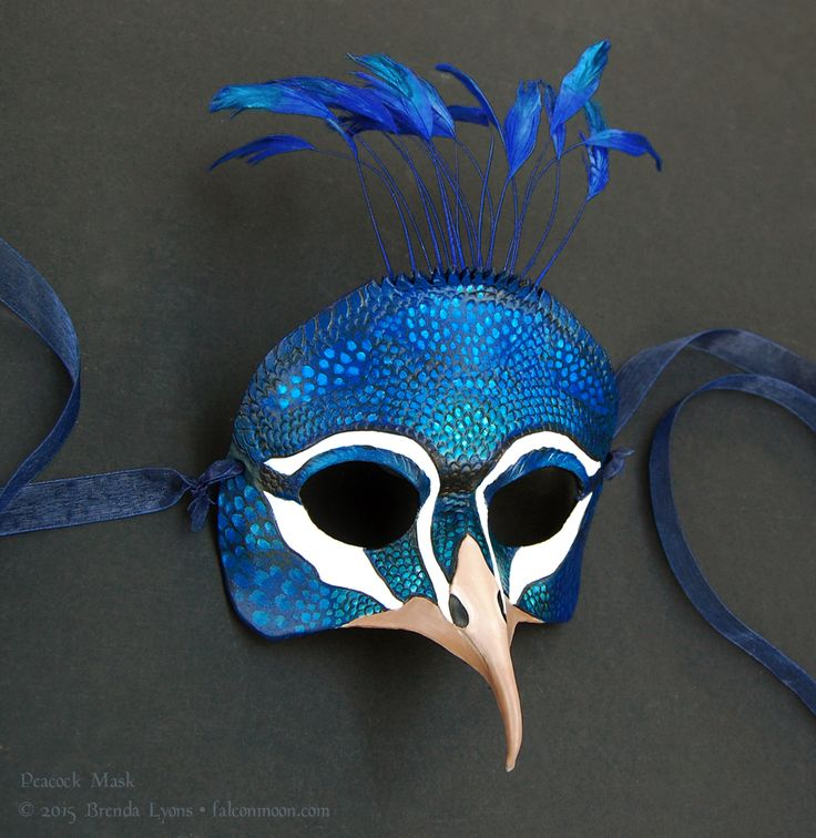 Peacock - Leather Mask by windfalcon.deviantart.com on @DeviantArt