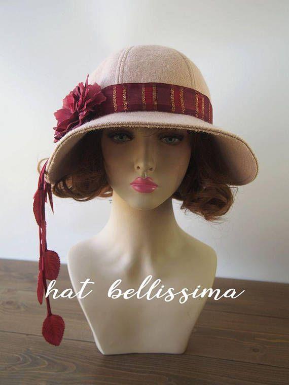 fc3980d6ff3 1920 s Hat Vintage Style hat winter Hats hatbellissima ladies hats ...