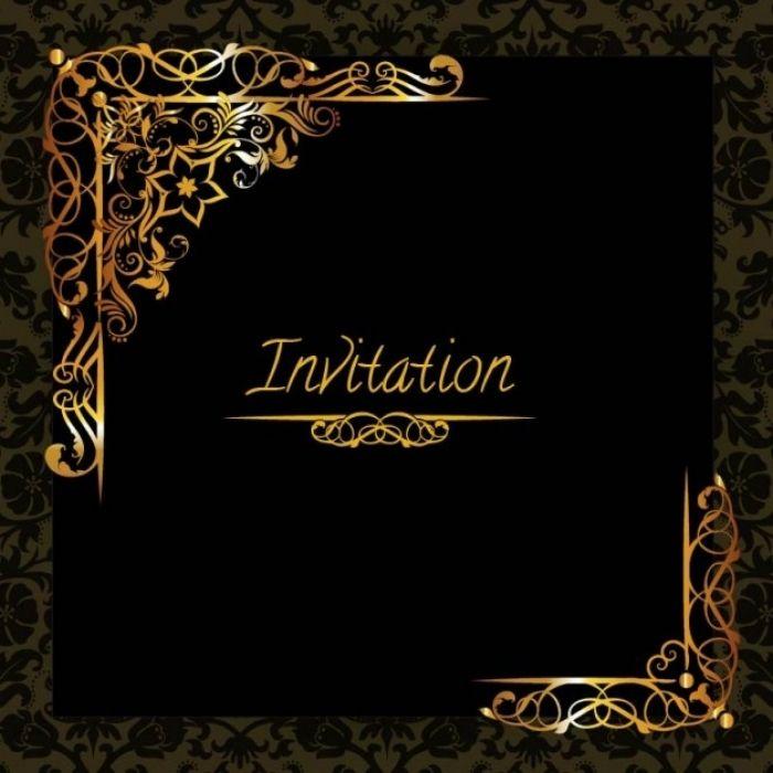 Beautiful Free Black And Gold Invitation Templates Ideas Black And Gold Invitations Gold Invitations Dinner Invitation Template
