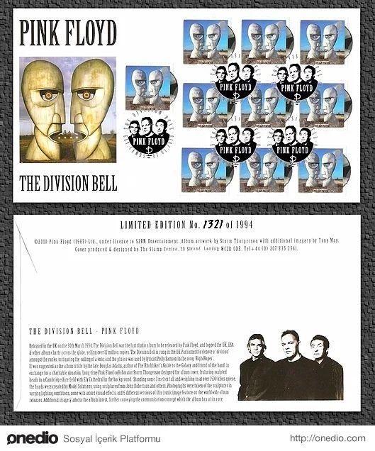 2010 yılında Pink Floyd'un albüm kapakları, Royal Mail Postage tarafından posta pulları olarak basıldı.