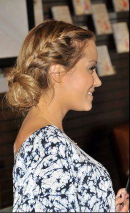 : French Braids, Braids Hairstyles, Bridesmaid Hair, Messy Buns, Hair Style, Side Braids, Lauren Conrad, Braids Buns, Low Buns