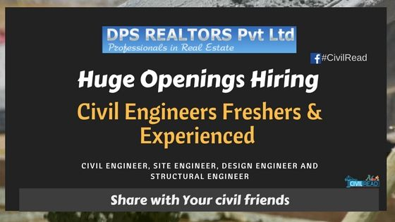 DPS Realtors Hiring Civil Engineers Freshers Jobs and Experienced. Apply the job/Vacancies/Current openings at Civil read. Don't miss this opportunity