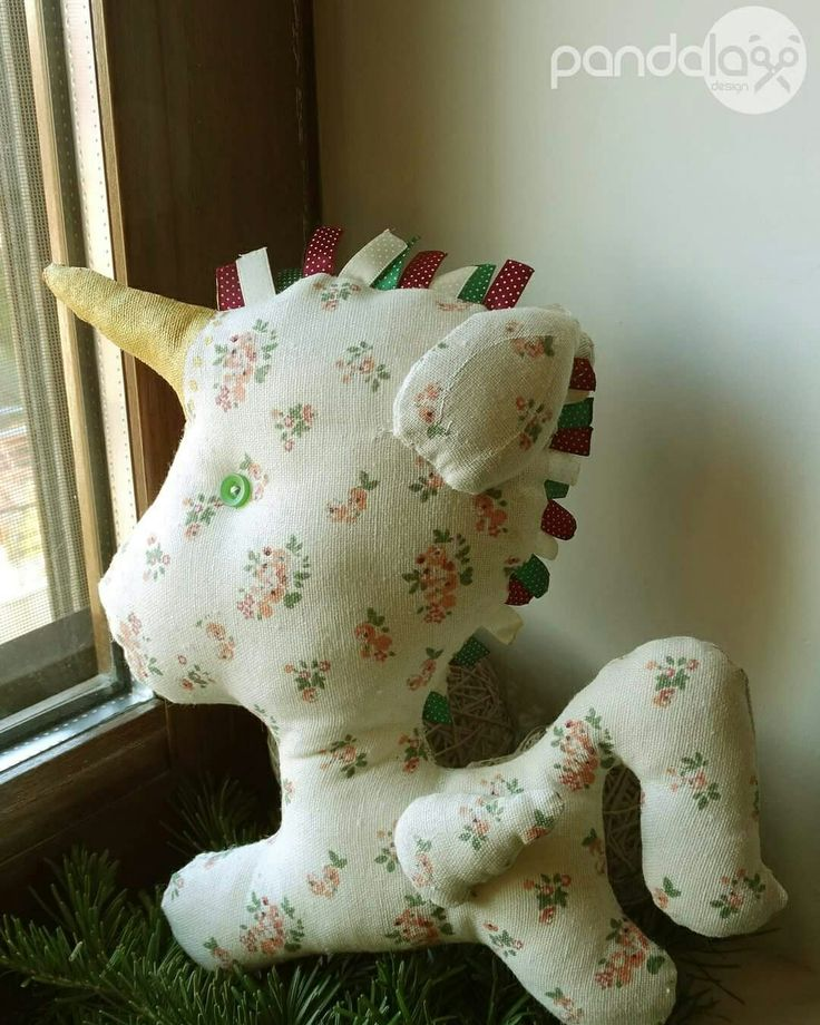 Unicorn small decorating pillow - made by PandaLav Design
