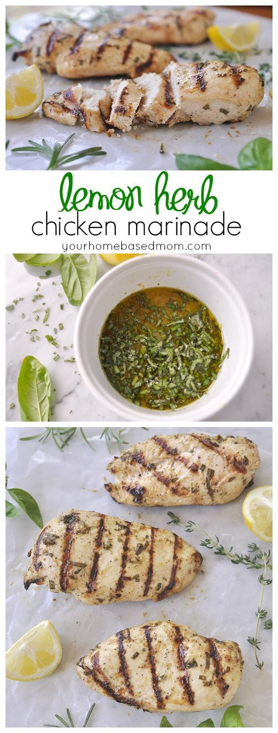 This lemon herb chicken marinade is the perfect summer dinner solution.  Just add chicken!