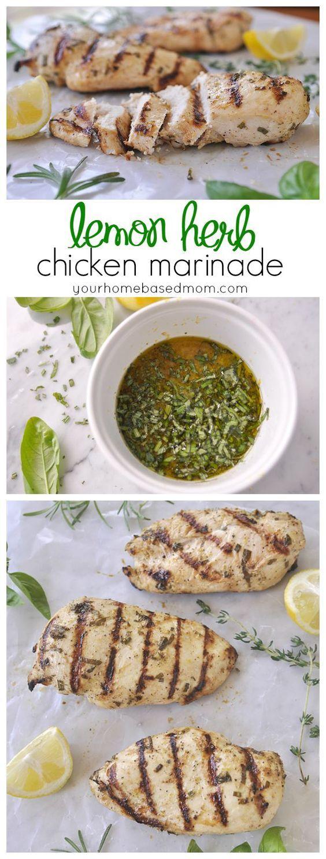 This lemon herb chicken marinade is the perfect summer dinner solution.  Just add chicken!